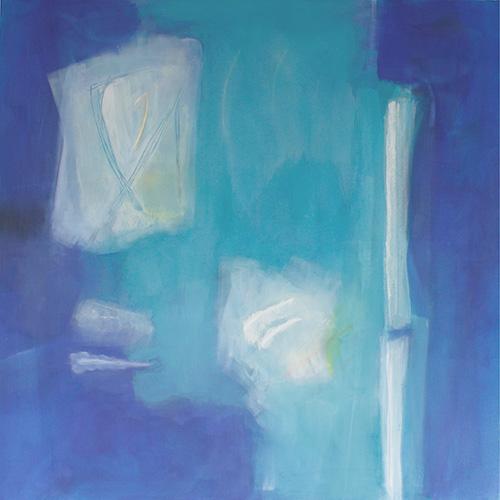 Versuchung 2, 120 x 120 cm, blau, Triptychon 2020