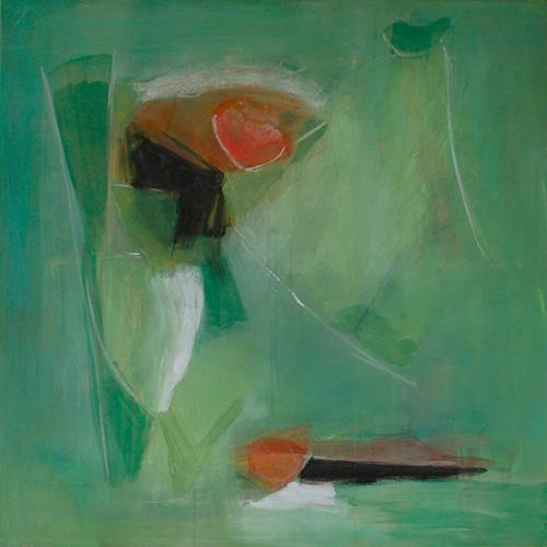 grün, 80 x 80 cm, 2020