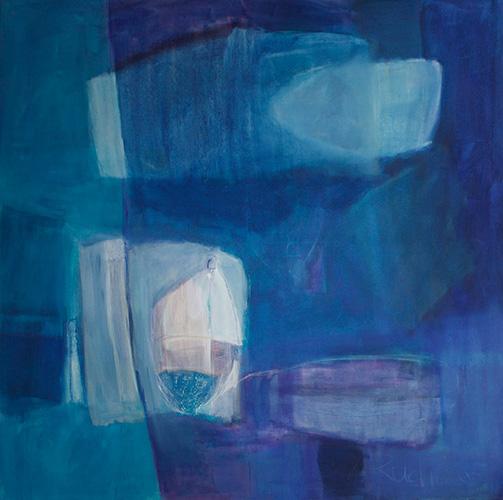 Le grand Bleu, 150 x 150 cm, andächtig, Fr. 2200.-